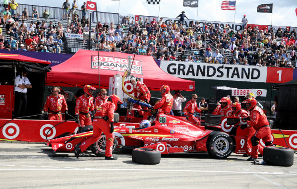 5 June, 2016, Detroit, Michigan USA Scott Dixon Pit Stop ©2016, Maria W. Grady LAT Photo USA