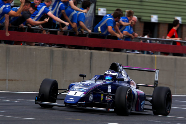 2016 British Formula 4 Championship, Snetterton, Norfolk. 29th - 31st July 2016. Devlin DeFrancesco (CAN) Carlin Ford British F4. World Copyright: Ebrey / LAT Photographic.