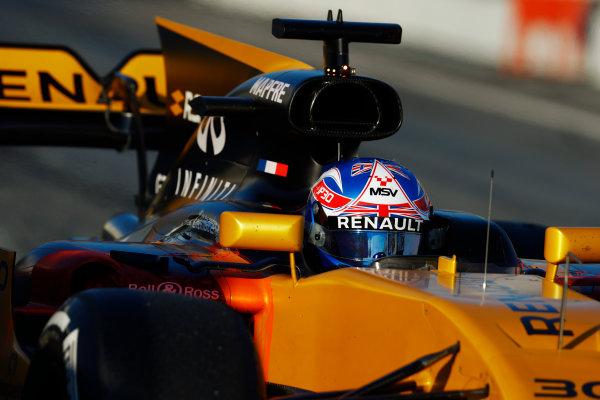Circuit de Barcelona Catalunya, Barcelona, Spain. Thursday 02 March 2017. Jolyon Palmer, Renault R.S.17.  World Copyright: Steven Tee/LAT Images ref: Digital Image _R3I7328