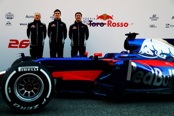 Toro Rosso STR12 Formula 1 Launch. Barcelona, Spain  Sunday 26 February 2017.  World Copyright: Dunbar/LAT Images Ref: _X4I9964