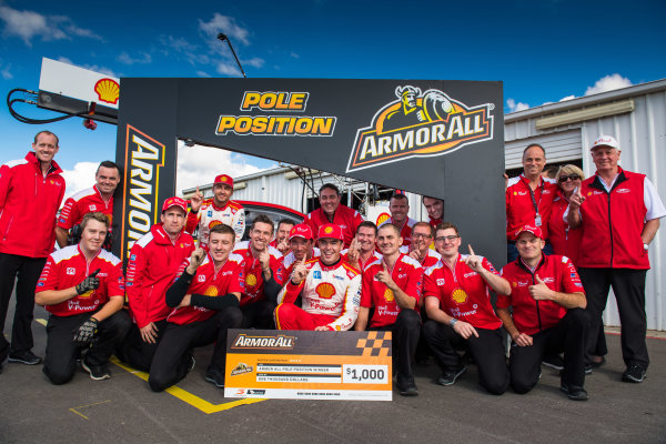 2017 Supercars Championship Round 5.  Winton SuperSprint, Winton Raceway, Victoria, Australia. Friday May 19th to Sunday May 21st 2017. Scott McLaughlin driver of the #17 Shell V-Power Racing Team Ford Falcon FGX. World Copyright: Daniel Kalisz/LAT Images Ref: Digital Image 200517_VASCR5_DKIMG_5224.JPG