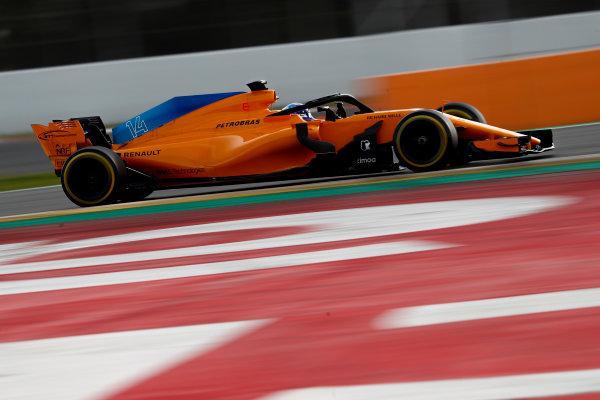 Circuit de Catalunya, Barcelona, Spain. Friday 09 March 2018. Fernando Alonso, McLaren MCL33 Renault. World Copyright: Glenn Dunbar/LAT Images ref: Digital Image _X4I2072