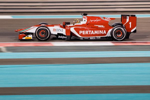 2017 FIA Formula 2 Test 3. Yas Marina Circuit, Abu Dhabi, United Arab Emirates. Saturday 2 December 2017. Sean Gelael (IDN, PREMA Racing).  Photo: Zak Mauger/FIA Formula 2. ref: Digital Image _O3I6382