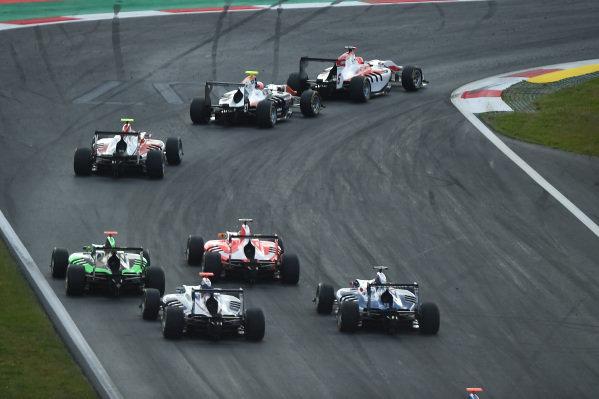 Esteban Ocon (FRA) ART Grand Prix leads at the start of the race at GP3 Series, Rd2, Spielberg, Austria, 19-21 June 2015.