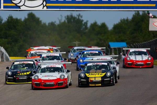 10-12 July 2015, Bowmanville, Ontario Canada Race 2, GT3 Cup USA, Start ?2015, Jake Galstad LAT Photo USA