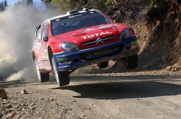 Colin McRae (GBR) / Derek Ringer (GBR) Citroen Xsara WRC.World Rally Championship, Rd7, Cyprus Rally, Limassol, Cyprus, 20 June 2003.DIGITAL IMAGE