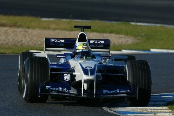 Ralf Schumacher (GER) Williams BMW FW24 Formula One Testing , 12 - 15 December 2002Jerez, Spain.DIGITAL IMAGE