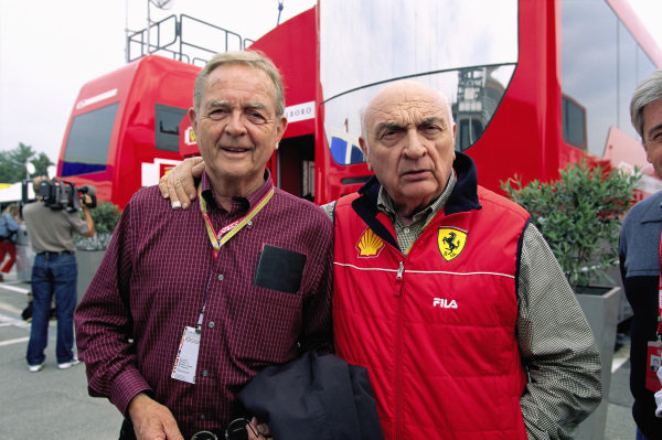 Phil Hill and José Froilán González, both former Ferrari drivers.