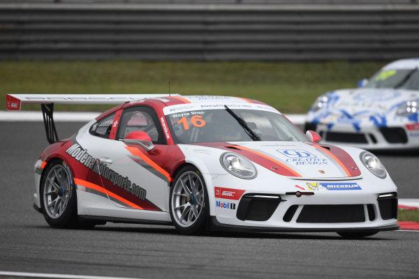 Wayne Shen (HKG) Modena Motorsports at Porsche Carrera Cup Asia, Shanghai, China, 13-15 April 2018.
