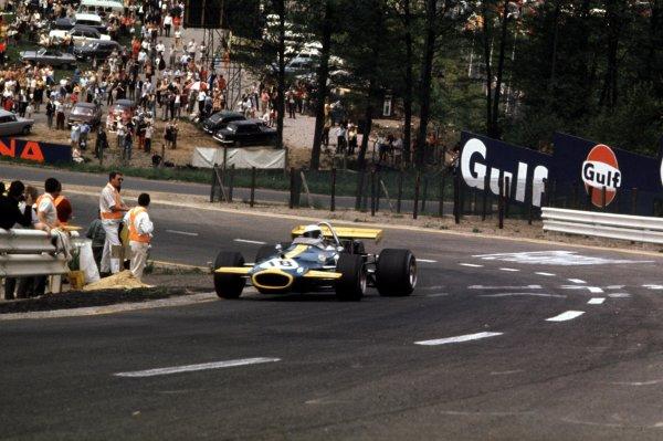 1970 Belgian Grand Prix.Spa-Francorchamps, Belgium.5-7 June 1970.Jack Brabham (Brabham BT33 Ford).Ref-70 BEL 30.World Copyright - LAT Photographic
