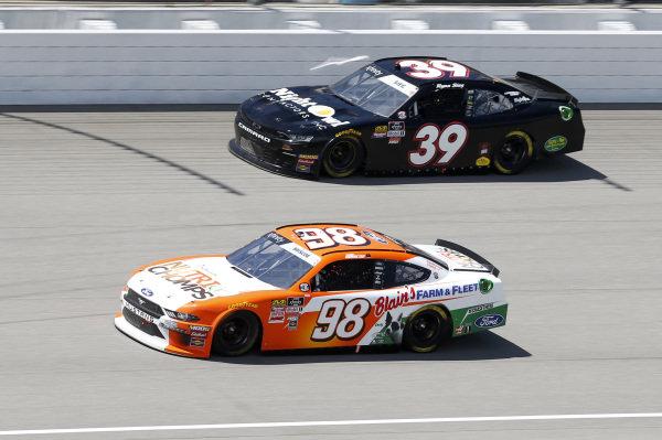 #98: Chase Briscoe, Stewart-Haas Racing, Ford Mustang Nutri Chomps/Blain's Farm & Fleet #39: Ryan Sieg, RSS Racing, Chevrolet Camaro Night Owl Contractors