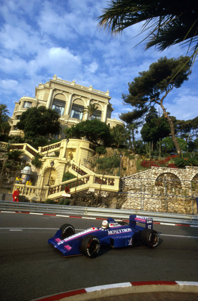 Monte Carlo, Monaco.4-7 May 1989.Bertrand Gachot (Onyx ORE-1 Ford) at Loews Hairpin. He failed to prequalify.Ref-89 MON 06.World Copyright - LAT Photographic