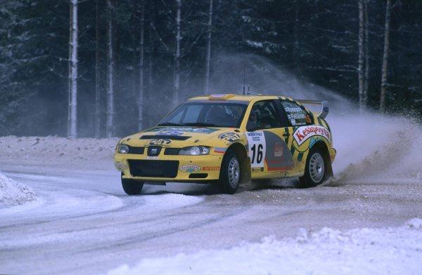 Swedish Rally, Sweden.10-13 February 2000.Harri Rovanpera (Seat Cordoba WRC)World - McKlein/LAT PhotographicRef: 2K WRC 05