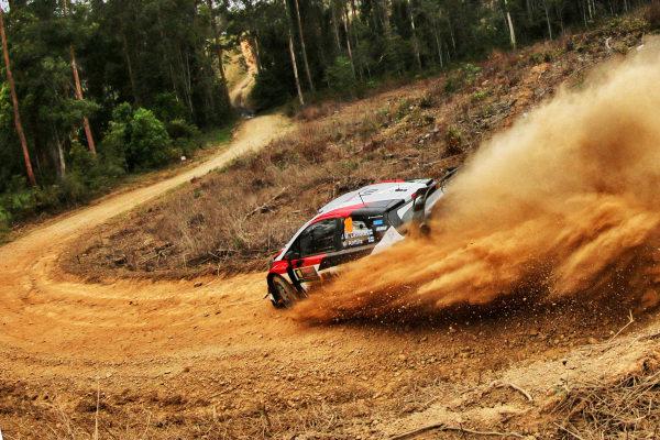 Jari-Matti Latvala (FIN) / Miikka Anttila (FIN), Toyota Gazoo Racing Toyota Yaris WRC at World Rally Championship, Rd13, Rally Australia, Day One, Coffs Harbour, New South Wales, Australia, 17 November 2017.