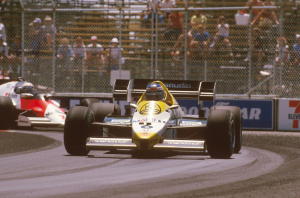 Fair Park, Dallas, Texas, USA.6-8 July 1984.Keke Rosberg (Williams FW09 Honda) 1st position.Ref-84 DAL 01.World Copyright - LAT Photographic