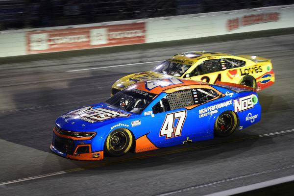 #47: Ricky Stenhouse Jr., JTG Daugherty Racing, Chevrolet Camaro NOS Energy Drink, #34: Michael McDowell, Front Row Motorsports, Ford Mustang Love's Travel Stops
