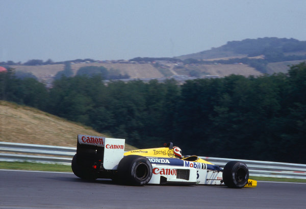 1986 Hungarian Grand Prix.Hungaroring, Budapest, Hungary.8-10 August 1986.Nelson Piquet (Williams FW11 Honda) 1st position.Ref-86 HUN 37.World Copyright - LAT Photographic