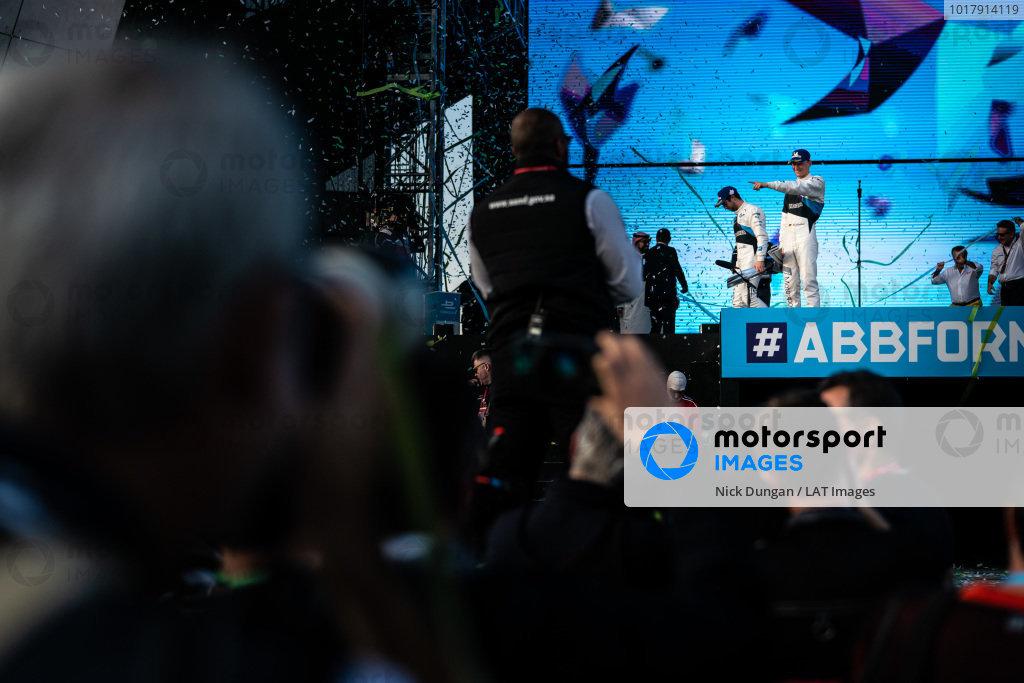 Maximilian Günther (DEU), BMW I Andretti Motorsports, BMW iFE.20m and Alexander Sims (GBR) BMW I Andretti Motorsports, BMW iFE.20 on the podium