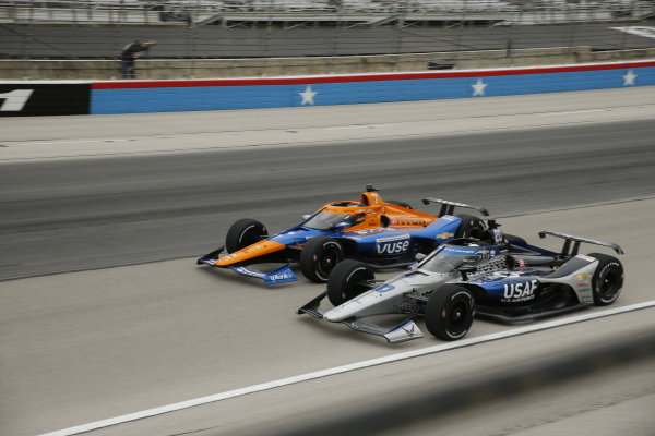 #7: Felix Rosenqvist, Arrow McLaren SP Chevrolet, #20: Ed Carpenter, Ed Carpenter Racing Chevrolet
