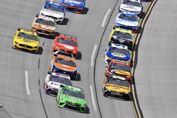 #18: Kyle Busch, Joe Gibbs Racing, Toyota Camry Interstate Batteries and #20: Christopher Bell, Joe Gibbs Racing, Toyota Camry DEWALT