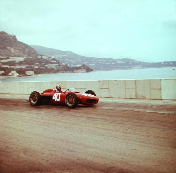 1961 Monaco Grand Prix.Monte Carlo, Monaco.11-14 May 1961.Wolfgang von Trips (Ferrari Dino 156) 4th position.Ref-3/0255.World Copyright - LAT Photographic