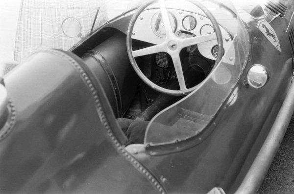 The cockpit of Peter Collins' Ferrari Dino 156.