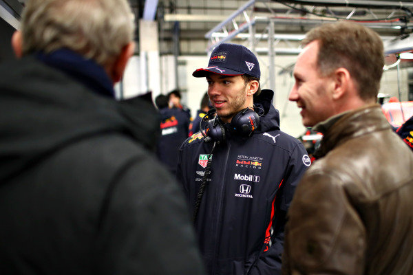 Pierre Gasly, Red Bull Racing and Christian Horner, Red Bull Racing Team Principal during Red Bull Racing filming day at Silverstone