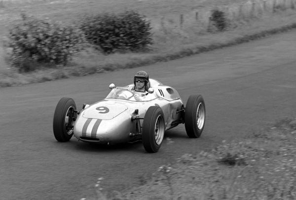 Dan Gurney (USA) Porsche 718 finished seventh. German Grand Prix, Nurburgring, 6 August 1961.
