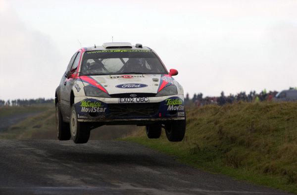 2002 World Rally Championship.Network Q Rally of Great Britain, Cardiff. November 14-17. Carlos Sainz on Stage 10, Halfway 1.Photo: Ralph Hardwick/LAT