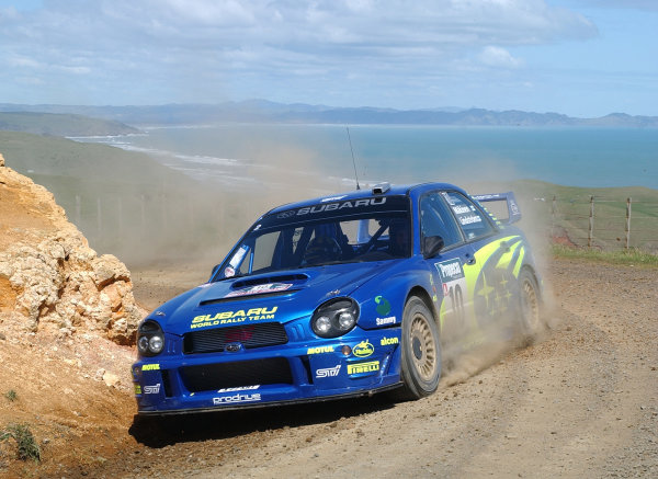 2002 World Rally Championship.Propecia Rally of New Zealand, Auckland, October 3rd-6th.Tommi Makinen on stage 4.Photo: Ralph Hardwick/LAT
