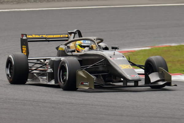 The 2020 Super Formula Lights car is demonstrated