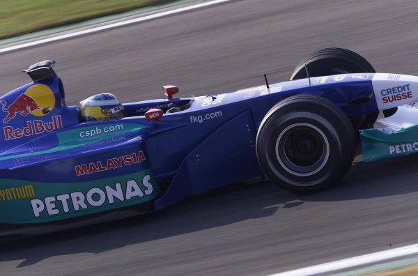 2001 Spanish Grand PrixCatalunya, Barcelona, Spain. 27-29 April 2001.Nick Heidfeld (Sauber C20 Petronas) 6th position.World Copyright - Steve Etherington/LAT Photographicref: 18 mb Digital Image