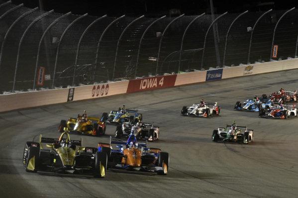 Marcus Ericsson, Arrow Schmidt Peterson Motorsports Honda, Scott Dixon, Chip Ganassi Racing Honda