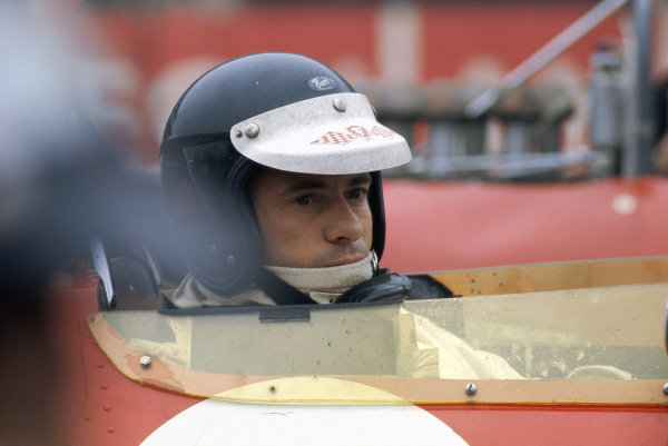 Jim Clark on the grid before the start. Clark was killed in the first heat
