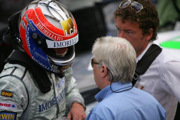 2006 Monaco Grand Prix - Porsche SupercupMonte Carlo, Monaco. 23rd - 28th May.Richard Westbrook chats with Charlie Whiting at Parc Ferme.World Copyright: Lorenzo Bellanca/LAT Photographicref: Digital Image ZD2J1212