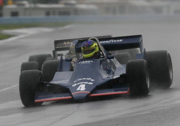 2 - 4 June, 2006, Watkins Glen, New York, USA, Rick Knoop in the Tyrrell F-1 driven by Didier Pironi,© 2006 Dan Streck/USA, LAT Photographic