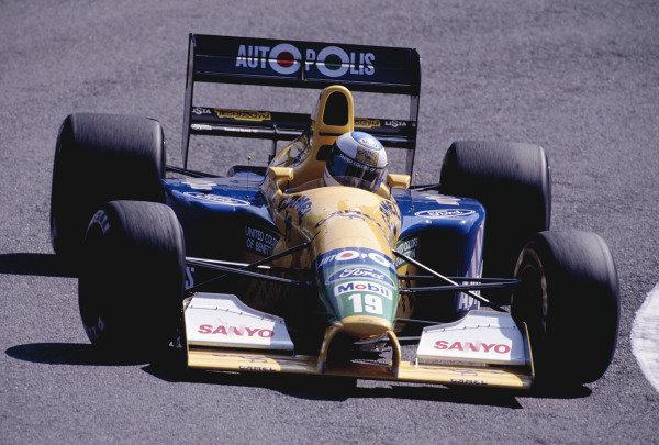 1991 Portuguese Grand Prix.Estoril, Portugal.20-22 September 1991.Michael Schumacher (Benetton B191 Ford) 6th position.Ref-91 POR 17.World Copyright - LAT Photographic