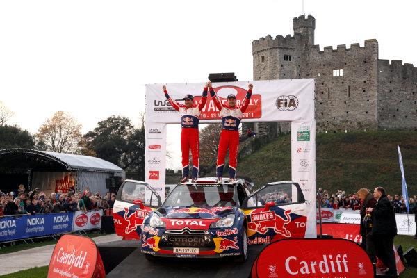 Round 13 Wales Rally GB. 10th-13th November 2011.Sebastien Loeb, Daniel Elena, Citroen WRC, Portrait, podium finish.Worldwide Copyright: McKlein/LAT