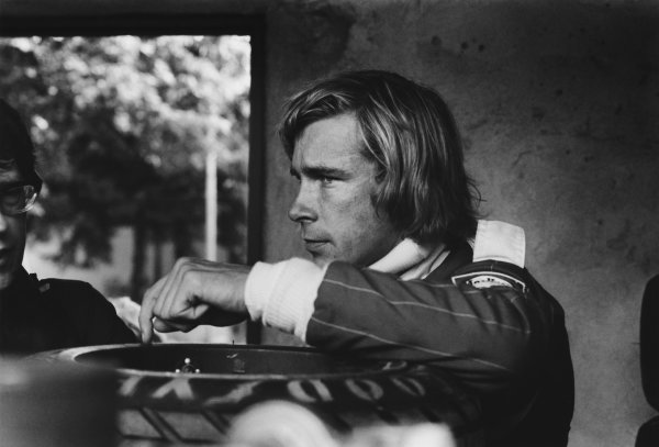 Monza, Italy. 10th - 12th September 1976. McLaren drivers, James Hunt and Jochen Mass  were put to the back of the starting grid due to fuel irregularities, portrait.  World Copyright: LAT Photographic. Ref: SL76 - 535 - 24.