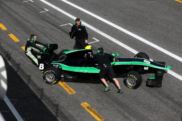 2014 GP3 Series Test 1. Estoril, Portugal.  Thursday 19 March 2015. Alex Fontana (SUI, Status Grand Prix)  Photo: Sam Bloxham/GP3 Series Media Service. ref: Digital Image _SBL0653