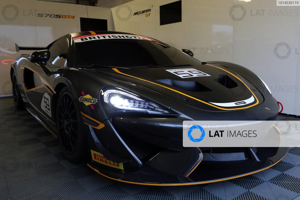 2016 British GT Championship, Media Day, Snetterton, 15 March 2016. McLaren 570S GT4  World copyright. Ebrey/LAT Photographic