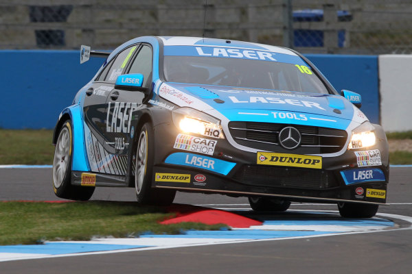 2016 British Touring Car Championship, Media Day, Donington Park, 22nd March 2016, Aiden Moffat (GBR) Laser Tools Racing Mercedes A-Class  World Copyright. Jakob Ebrey/LAT Photographic