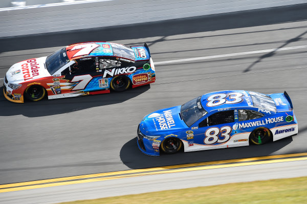 13-21 February, 2016, Daytona Beach, Florida, USA Regan Smith (7), Michael Waltrip (83) ?2016, John Harrelson / LAT Photo USA