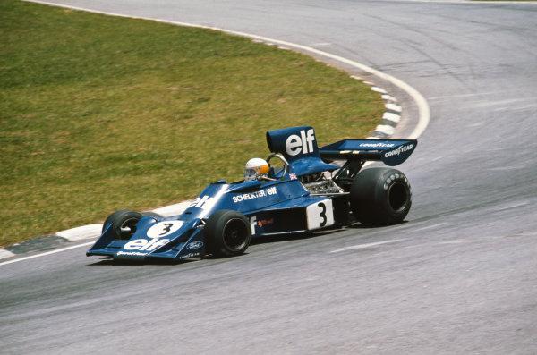 1975 Brazilian Grand Prix  Interlagos, Sao Paulo, Brazil. 24-26th January 1975.  Jody Scheckter, Tyrrell 007 Ford, retired.  Ref: 75BRA03. World copyright: LAT Photographic