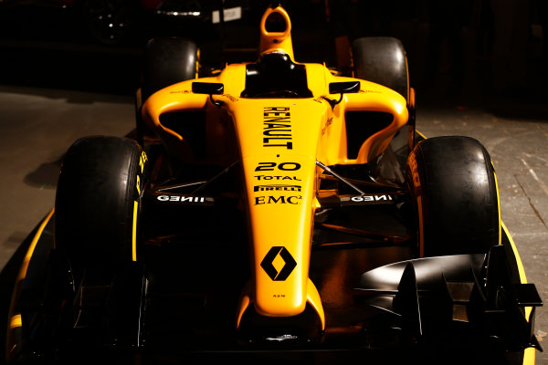 Albert Park, Melbourne, Australia. Wednesday 16 March 2016. The Renault RS16 in its new livery. World Copyright: Andy Hone/LAT Photographic ref: Digital Image _ONZ9923