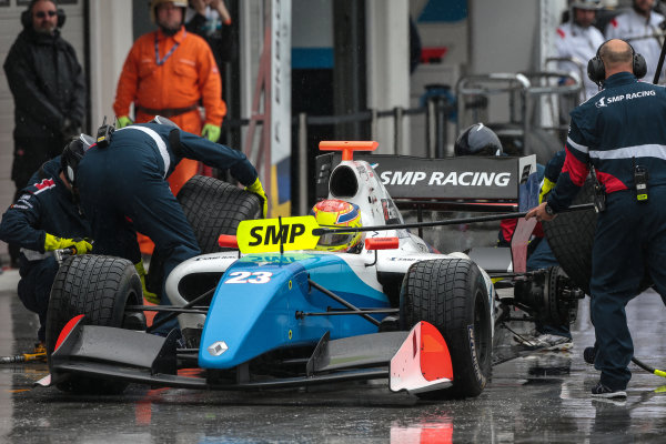 BUDAPEST (HUN) APR 22-24 2016 - Second round of the Formula V8 3.5 at the Hungaroring. Matthieu Vaxiviere #23 SMP Racing. Action. © 2016 Diederik van der Laan  / Dutch Photo Agency / LAT Photographic