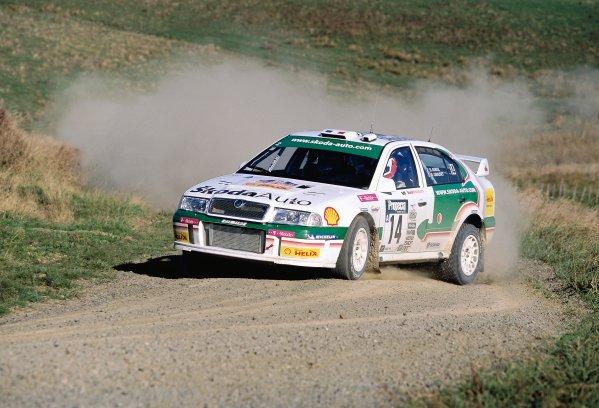 2003 World Rally ChampionshipRally New Zealand. 9th - 13th April 2003.Didier Auriol/Denis Giraudet (Skoda Octavia WRC EVO 3), 8th position.World Copyright: LAT Photographicref: 35mm Image A12