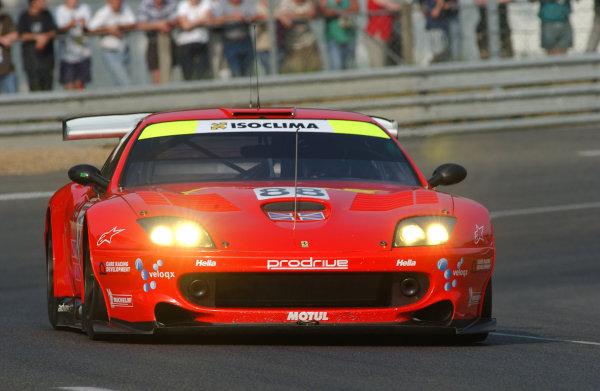 2003 Le Mans 24 HoursLe Mans, France. 12th June 2003The Ferrari GTS of Kox/Enge/Davies, action.World Copyright: Jeff Bloxham/LAT Photographicref: Digital Image Only