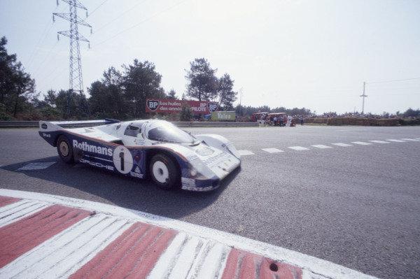 1985 Le Mans 24 HoursLe Mans, France. 15th - 16th June.Jacky Ickx/Jochen Mass/Derek Bell (Porsche 962C), 10th position.World Copyright: Murenbeeld/LAT Photographicref: 35mm Transparency Image