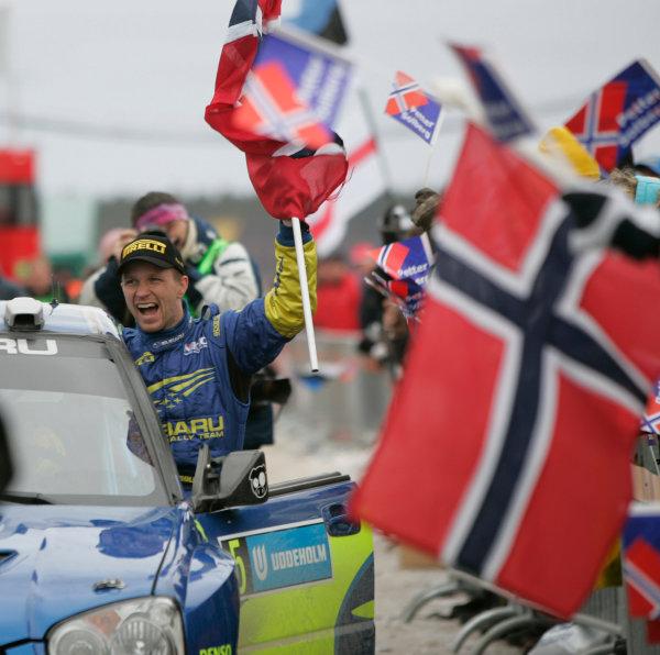 2005 FIA World Rally Champs. Round two Swedish Rally.10th-13th February 2005.Petter Solberg, Subaru.World Copyright: McKlein/LAT